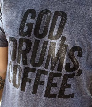 A praise and worship t-shirt for drummers