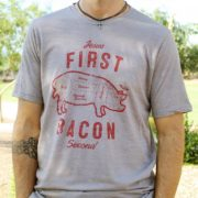 Jesus First Bacon Second funny Bacon T-Shirt