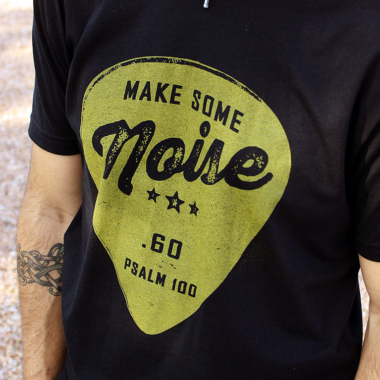 Make some noise praise and worship t shirt from set for Making band t shirts