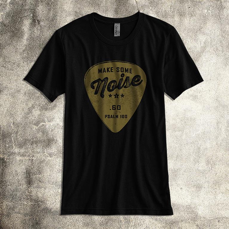 Make noise men 39 s unisex worship band t shirt praise for Making band t shirts