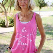 "a cute women's christian shirt entitled ""be brave"""