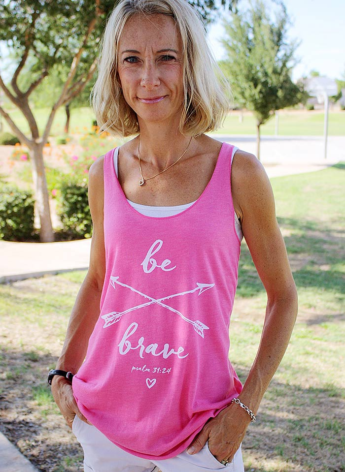 "a cute women's christian shirt entitled ""be brave"""