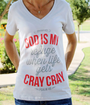 god is my refuge women's christian top