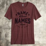christian shirt for men name above names
