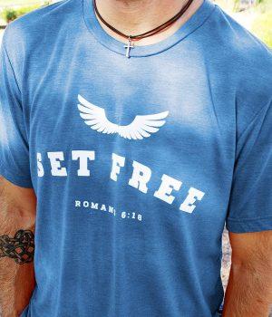 tri-blend christian t-shirt from set free apparel