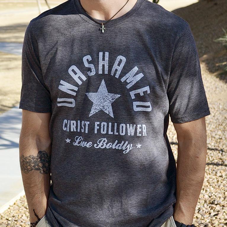 3eaa610f9c9 Unashamed Christ Follower - Christian Shirt for Men (Crew)