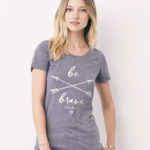 be brave christian tshirt for women