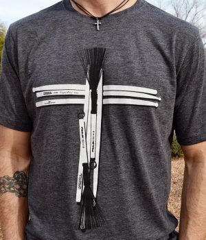 Drum Stick Cross Praise and Worship Drummer Shirt