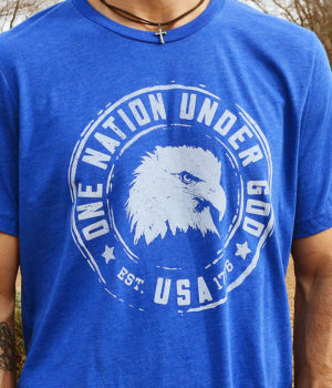 One Nation Under God - Patriotic Shirt for Men