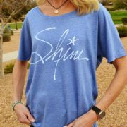 Shine - vintage Christian shirt for women slouchy tee royal
