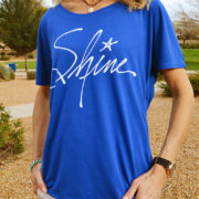 Shine - Christian shirt for women slouchy tee royal