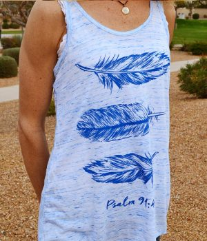 Feathers - flowy Christian tank top for women