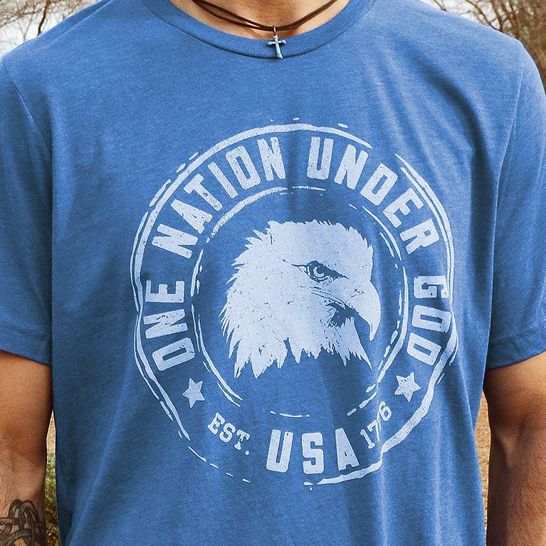 b46df2cd1cd One Nation Under God    Patriotic Shirt for Men from Set Free Apparel