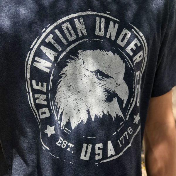 one nation under god patriotic tshirt