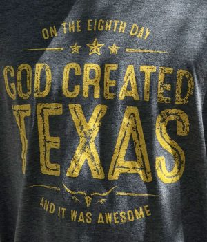 god created texas tshirt