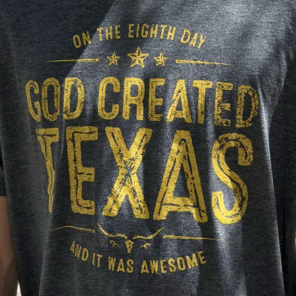 god created texas tshirt